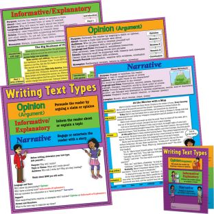 Text Types Poster And Folder Kit - Intermediate - 4 posters, 12 folders