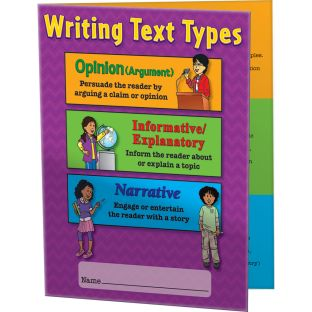 Intermediate Writing Text Types 3-Pocket Folders - 12 folders