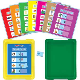 Really Good MAGtivity™ Tins Short Vowel Word Families Kit - 88 tiles, 16 cards, 2 trays