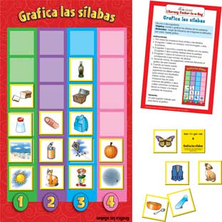 Spanish Graph The Syllables (Grafica Las Silabas)