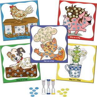 Hat On A Cat CVC Board Games - 5 games