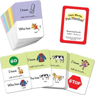 I Have... Who Has...? Small Group Beginning Sounds - 96 cards
