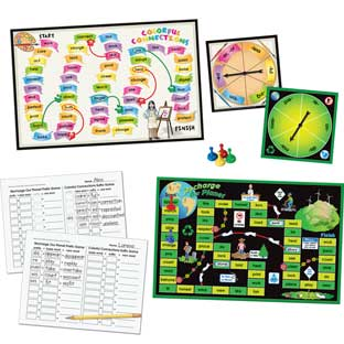 Prefix and Suffix Spin Board Games - 2 games