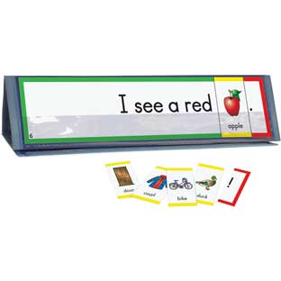 Sight Word Sentence Builders: Dolch Pre-Primer Word Cards and Desktop Tent Kit