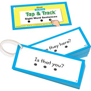 EZRead 1st 50 Fry Tap and Track™ Sight Word Sentences - 100 cards