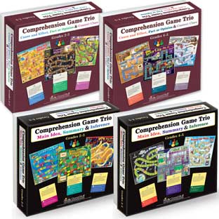Comprehension Game Trios: Set Of 4 - Grades 2-5
