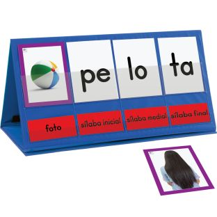 Spanish Word Building Desktop Pocket Chart Tent and Cards Kit - 1 kit