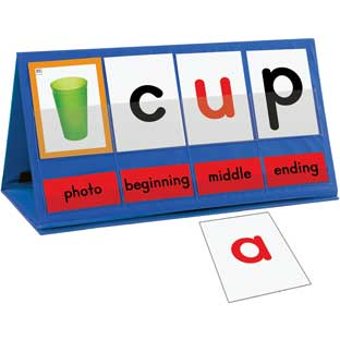 Word Building Desktop Pocket Chart Tent and Cards Kit - 1 kit