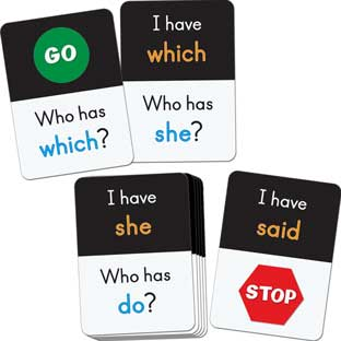 I Have, Who Has? Small Group 1st 50 Fry Words - 60 cards