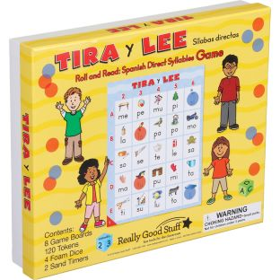 Tira y lee: SÍlabas directas (Roll And Read: Spanish Direct Syllables) - 1 game