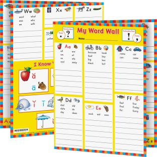 My Word Wall Folders: Kindergarten - 12 folders