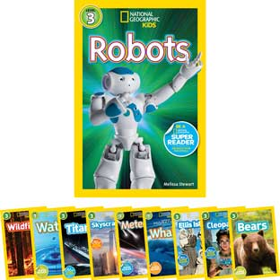 National Geographic Kids Readers Level 3 - Set 2 - 10-Book Set