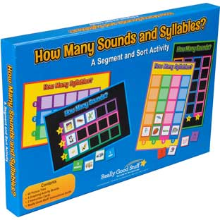 How Many Sounds And Syllables? A Segment And Sort Activity - 4 boards, 60 chips
