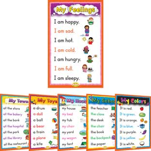 Sight Word Story Charts Level PreA - 6 posters