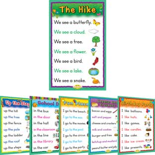 Sight Word Story Charts Level A - 6 posters