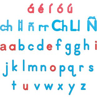 EZread™ Spanish Color-Coded Plastic Magnetic Letters - 92 letters