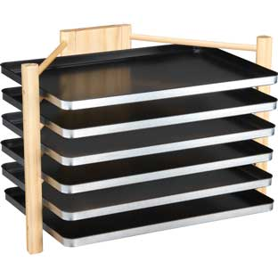 Really Good MAGtivity™ Tins Storage Rack With Large Black MAGtivity™ Tins - 1 rack, 6 tins