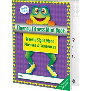 Fluency Fitness Mini Books - Weekly Sight Word Phrases and Sentences - 12 mini books
