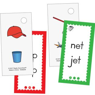 EZread™ Mini Flash Cards: CVC - 6 sets of flash cards