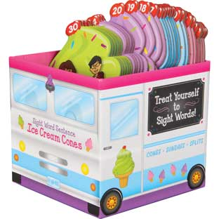 Sight Word Sentence Ice Cream Cones - 30 cones