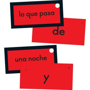 EZread™ Mini tarjetas de palabras de uso frecuente (juego de tarjetas rojas) (Spanish High-Frequency Word Mini Flash Cards Red Set)