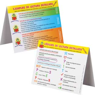 Triangulitos de Lectura detallada (Spanish Close Reading Tents) - 30 tents