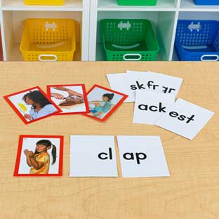 Blends and Digraphs Pocket Chart Card Set
