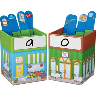 Sorting City™ Phonemic Awareness Kit - 6 boxes, 288 sticks