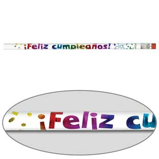 Feliz Cumpleaños Pencils (Happy Birthday Pencils) - 12 pencils