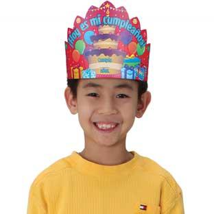 Hoy es mi cumpleaños (Spanish It's My Birthday Crowns) - 12 crowns
