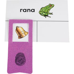 Tarjetas y Clips: Palabras que riman (Spanish Rhyming Word Cards And Clips)