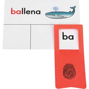 Tarjetas y Clips: Identificar sA­labas (Spanish Syllable Identification Cards And Clips) - 45 cards, 6 clips