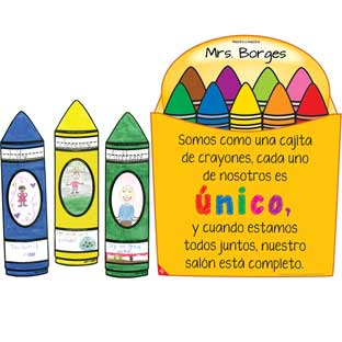 Ready-To-Decorate® Kit de Bienvenida crayones de colores (Spanish Crayon Welcome Kit)