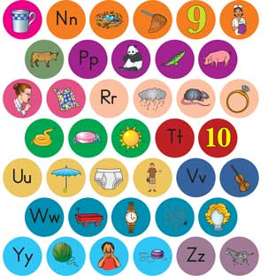 Alphabet Picture Stickers - 1,440 stickers