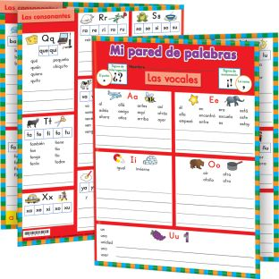 Mi pared de palabras: grado 1 (My Spanish Word Wall Grade 1) - 12 folders
