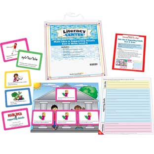 Main Idea and Supporting Details Sort and Write Level 2 Literacy Center - Use for Grades 4-5 - 1 literacy center