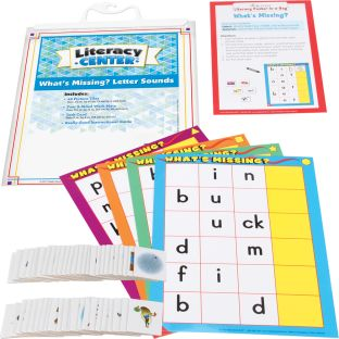 What's Missing? Letter Sounds Literacy Center™