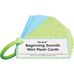EZread™ Beginning Sounds Mini Flash Cards - 318 cards