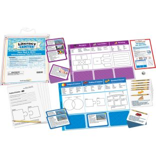 Sort, Roll, And Write Informational Text Structures Literacy Center™ - 1 literacy center