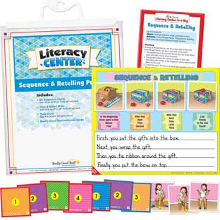 Sequence And Retelling Puzzles Literacy Center™ - 1 literacy center