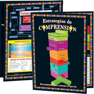 Carpeta Estrategias de comprensión y más (Spanish Comprehension Strategies And More 3-Pocket Folders) - 12 folders