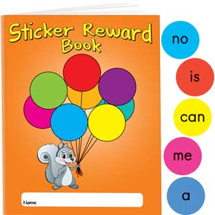First 50 Sight Word Stickers And Reward Books
