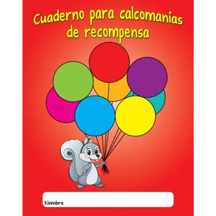 Cuaderno para calcomanas de recompensa (Spanish Sticker Reward Books) - 12 books