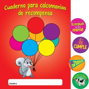 Cuadernos y calcomanA­as de recompensa (Spanish Stickers And Reward Books) - 12 books, 600 stickers