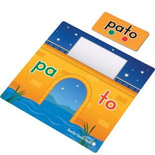 ¡Cruza el puente hábilmente! Juego de sílabas (Spanish Syllable Bridge Game)