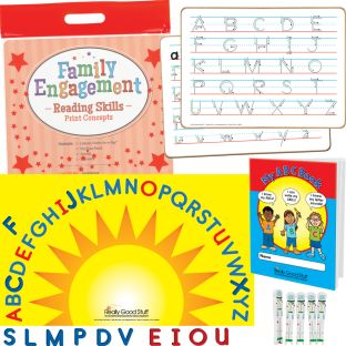 Family Engagement Reading Skills - Print Concepts - 1 multi-item kit