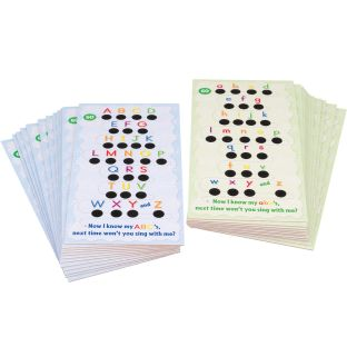 Alphabet Song Tap And Track™ Cards - 24 cards