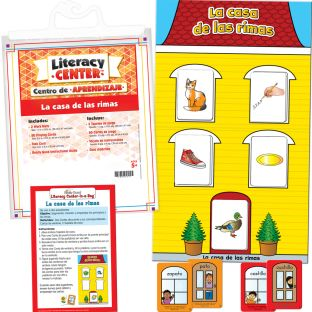 Centro de aprendizaje™: La casa de las rimas (Spanish House Of Rimes) - 1 literacy center