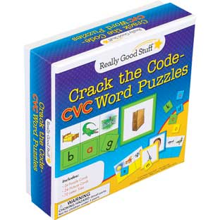 Crack The Code CVC Word Puzzles - 24 puzzles