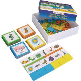 Crack The Code CVC Word Puzzles - 24 puzzles